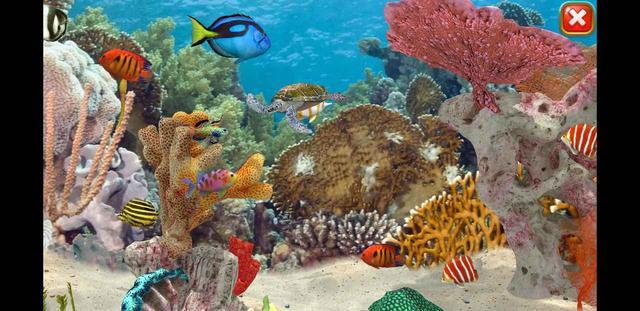 画像: ゲーム中に登場する魚たちは、いずれもリアルな3Dグラフィックで描かれている。画面のドラッグ操作で、画面を上下左右にスクロールさせることが可能だ。