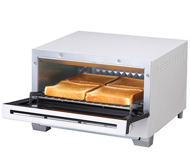 画像: 80~280℃まで温度設定が可能。トーストの際は、温度280℃、コンベクション機能「入」で設定し、食パン4枚を4分で焼き上げる。2枚焼きのモデルも用意される。