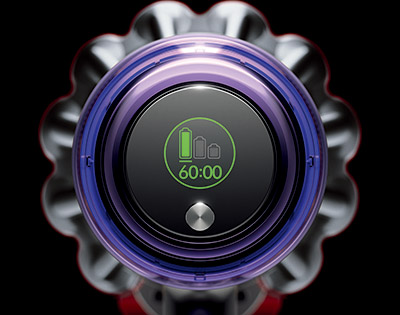 画像: バッテリー残量は、インジケーターではなく1秒単位でお知らせ。ヘッドやアクセサリーを自動認識し、それに合わせた残量を表示。