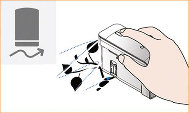 画像: 印刷内容に適した二つのモードを選択可能。テキストやバーコード、QRコードをまっすぐ印字するなら上のローラーモード、画像を印刷するなら本体を自由に動かせる下のスライダーモードに切り替える。