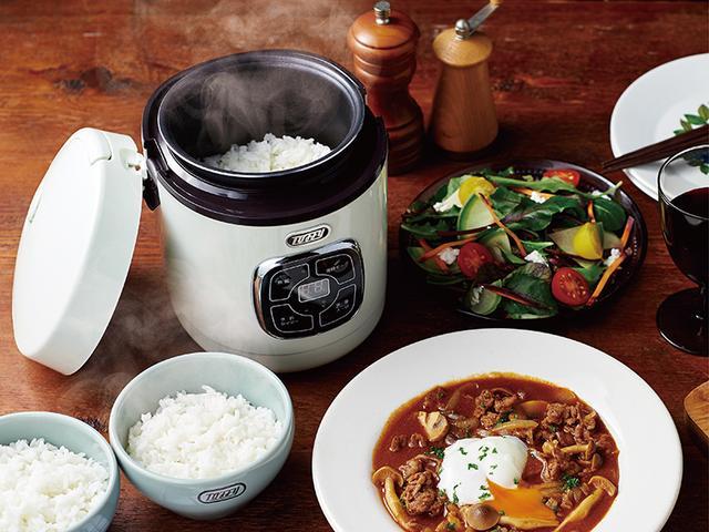 画像1: 少量のご飯を短時間で炊けて料理も作れる小型マイコン炊飯器