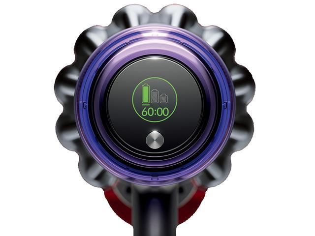 画像: V11シリーズでは、液晶ディスプレイを搭載し、残り運転時間などが確認できるようになった。