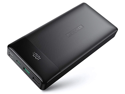 画像: サイズ:約 165.5×78.5×23.5 mm 重量:約420g バッテリー容量:20000mAh/74Wh ⼊⼒ポート:Lightning × 1、USB Type-C × 1、Micro USB × 1 出⼒ポート:USB A × 2、USB Type-C × 1 https://www.amazon.co.jp/dp/B07TTLB44B
