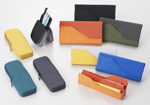 画像: ヨコオキは、2サイズ展開。カラーはオレンジ、黄、緑、青、黒の5色。 タテオキは1サイズ展開で、カラーは黄、青、グレー、黒の4色。