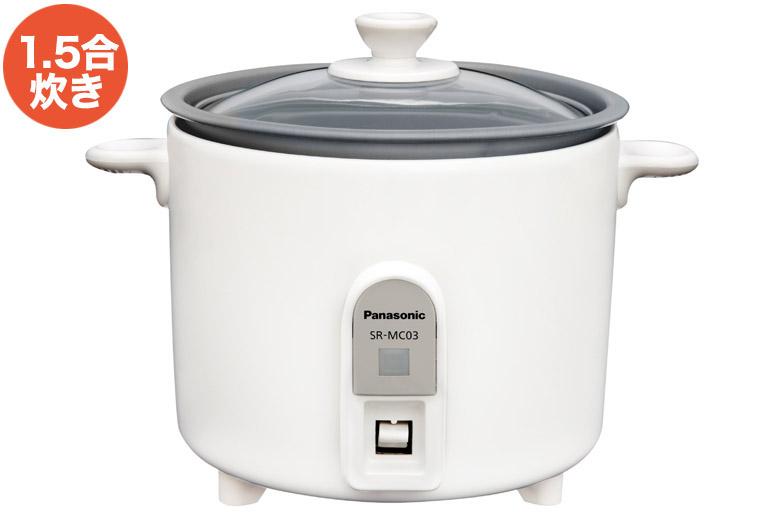 画像: ●炊飯容量/1.5合(0.27L) ●炊飯方式/ヒーター ●炊飯時消費電力/約200W ●サイズ/幅210mm×高さ160mm×奥行き160mm ●重量/1.0kg