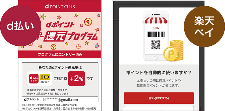 画像: アプリでは対応ポイントカードが表示でき、決済するとポイントが付与されるほか、支払いに当てることも可能。