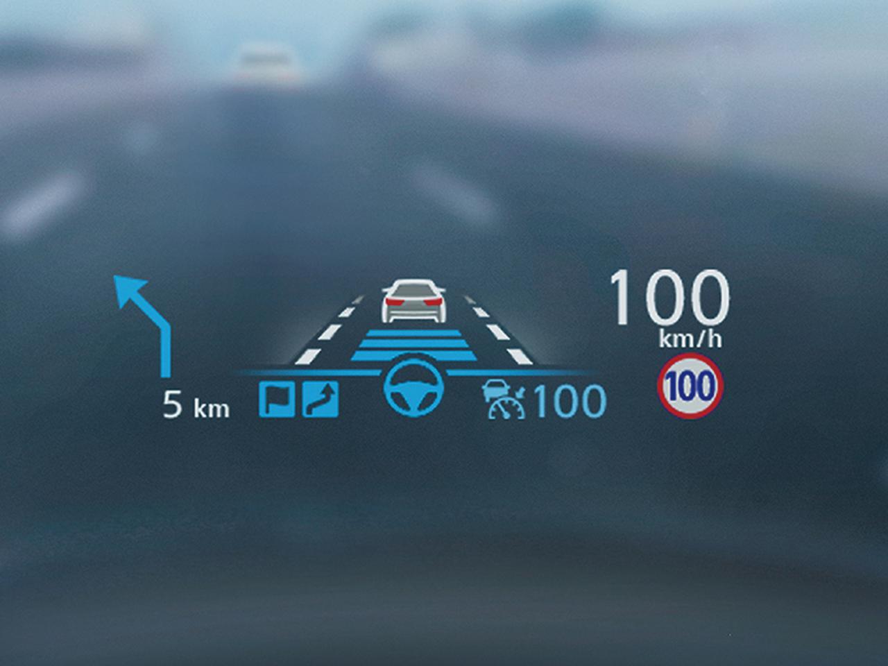 画像: 高速道路の「ルート上の車線変更と分岐の支援」「追い越し時の車線変更の支援」、さらに同一車線内の「ハンズオフ」と、幅広い支援を行う。