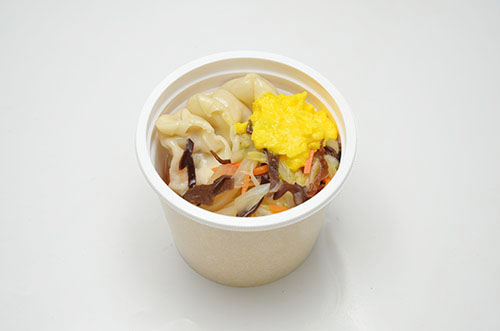 画像: 商品③「お肉の旨味!餃子と野菜の中華スープ」