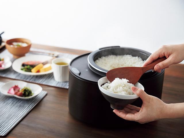 画像2: おひつのように食卓に置ける個性的なデザインのIH炊飯器