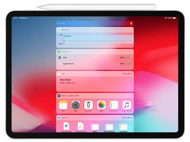 画像: アップルペンシル(第2世代)は、iPadの側面に磁力で接続し、充電できる。