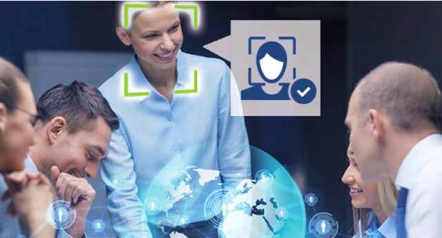画像: 顔認証技術の利用イメージ 顔認証エンジンにより、カメラがとらえた映像から「顔」部分が切り出され、それが登録済みの顔データと一致するかを照会する仕組みだ。