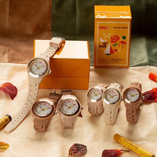 画像3: 【腕時計のおすすめ】全70色から選べる「クレパス柄トケイ」が安くておしゃれ!