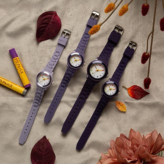 画像4: 【腕時計のおすすめ】全70色から選べる「クレパス柄トケイ」が安くておしゃれ!