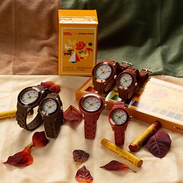 画像2: 【腕時計のおすすめ】全70色から選べる「クレパス柄トケイ」が安くておしゃれ!