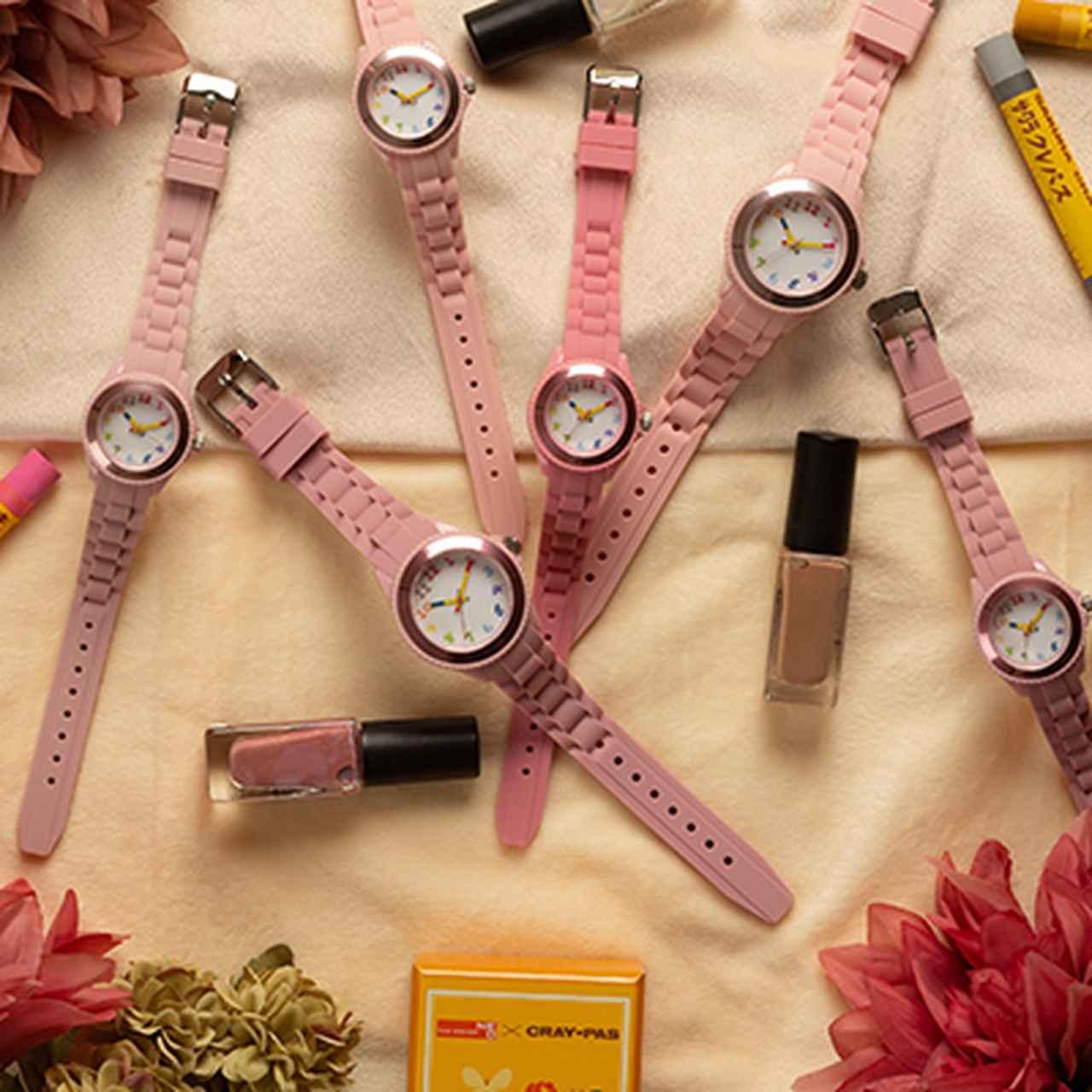 画像1: 【腕時計のおすすめ】全70色から選べる「クレパス柄トケイ」が安くておしゃれ!