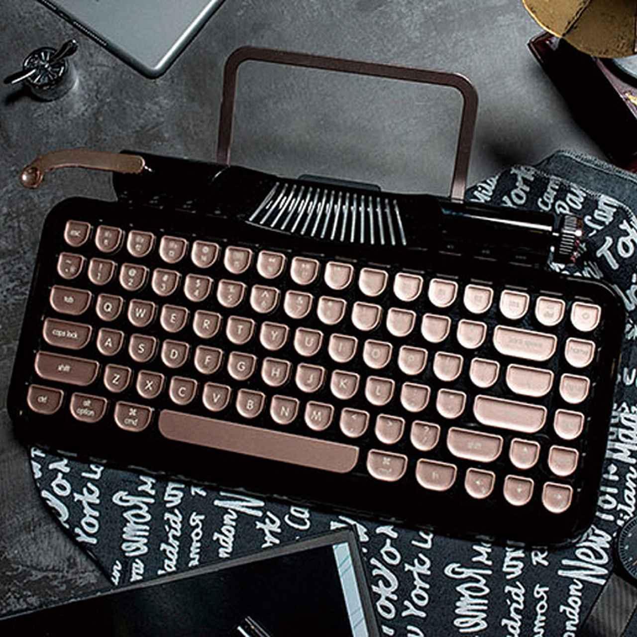 画像: 【機能は最新】タイプライターデザインがレトロなBluetoothキーボード【Vinpok Rymek】