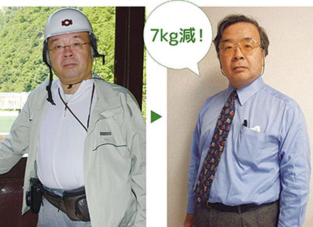 画像: 左)かつて86kgあった下津浦先生 右)約7カ月で7kgやせた!
