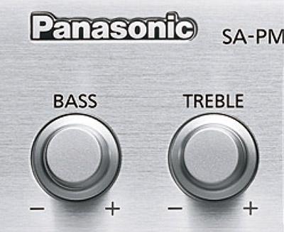 画像: ●音質調整つまみを搭載 フロントパネルにBASS /TREBLEつまみが配置され、低音と高音が調整可能。