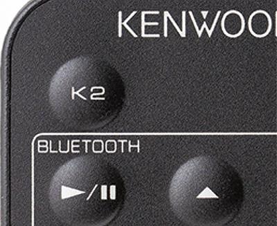 画像: ●リモコンのK2ボタン JVCケンウッドの誇るK2を搭載。リモコンにも「K2」のダイレクトボタンあり。