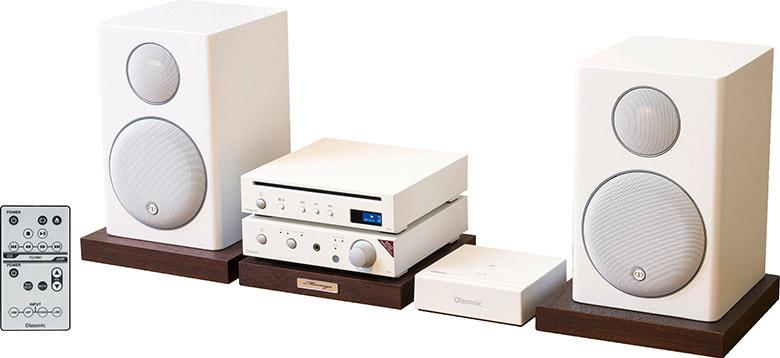 画像: ※オーディオボードは別売。 サイズ▶ アンプ:幅14.9cm×高さ3.9cm×奥行き17.5cm、CDトランスポート:幅14.9cm×高さ3.9cm×奥行き16cm、スピーカー:幅12.5cm×高さ19.8cm×奥行き14cm 重量▶ アンプ:0.94kg、CDトランスポート:1.2kg、スピーカー:2.1kg(1台) 実用最大出力▶ 26W+26W(4Ω)