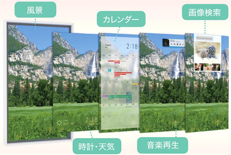 画像: 巨大なフォトフレームのように見えるが、風景コンテンツに時計・天気、カレンダーなどの機能を重ねることができる窓形スマートディスプレイである。予約価格は4万8384円から。