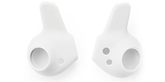 画像: ジョギング中でも、安定した装着性を約束するシリコンイヤフィンが3サイズ付属。