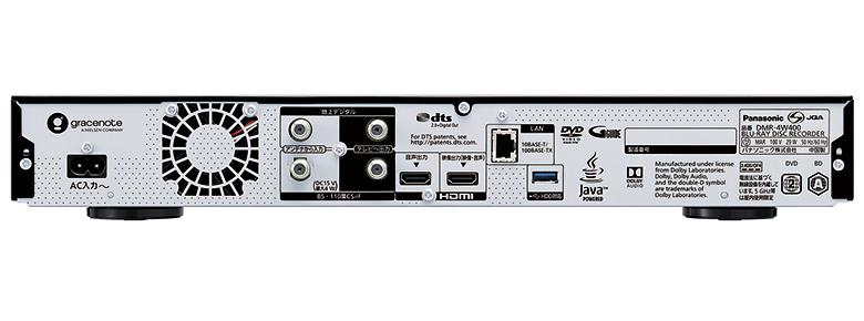 画像: アナログ音声出力、光デジタル音声端子は非搭載。映像、音声信号をセパレート出力できる2系統のHDMI出力を備える。