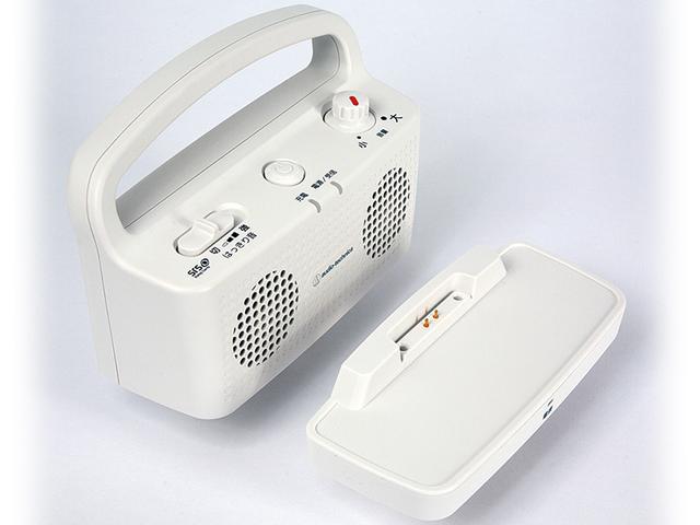 画像: バッテリー内蔵型で、約16時間、使用可能。本体とスタンド部はデジタル無線接続なので、手軽に使える。充電も、スタンドに置くだけ。