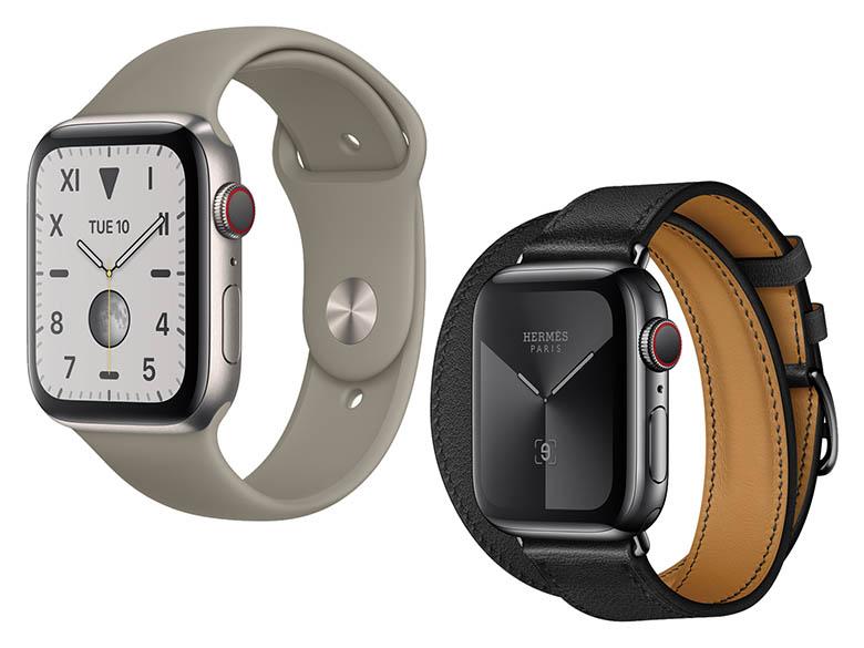 画像: アルミ、ステンレスに加えて、チタン(写真左上)、セラミックなどケースが豊富になった。アップルの販売サイトではケースや大きさ、ベルトなどを自由に選んで購入できる。