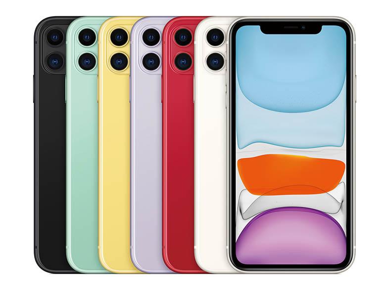 画像: 従来のiPhoneにはなかった色遣いの6色展開。昨年のiPhone XRに比べると、カメラは二つに増え、価格は割安になっている。
