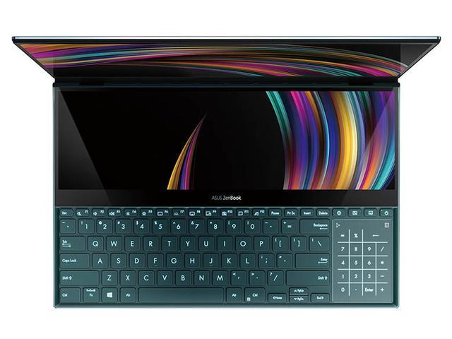 画像: キーボードの上部に14.0型のタッチ式ディスプレイ「ScreenPad Plus」を搭載。サブ画面として利用可能なほか、付属ペンを使って液晶タブレットとしても活用できる。