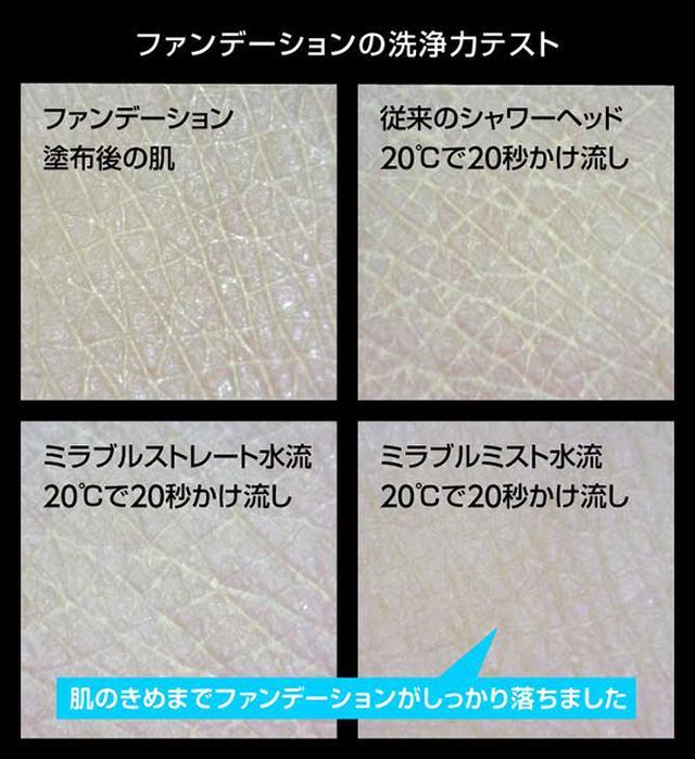 画像: ファンデーションの洗浄力テスト mirable.jp