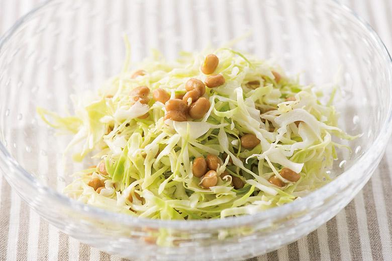 画像3: 混ぜるだけで即完成! 「キャベツ 納豆 」 基本の作り方