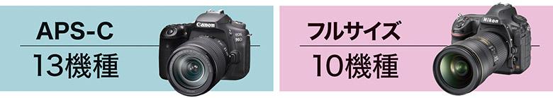 画像: ミラーレスに比べると、一眼レフを発売するメーカーが少なくなっている。今回は、キヤノン、ソニー、ニコン、ペンタックスの各モデルを撮像センサーサイズ別に2クラスに分けて評価した。