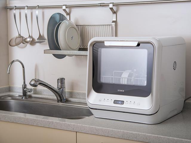 画像: 水道工事なしですぐに使えるコンパクトな食器洗い乾燥機