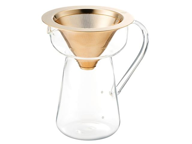 画像: ペーパーフィルターなしで短時間抽出ができるこだわりのコーヒーフィルター&サーバー