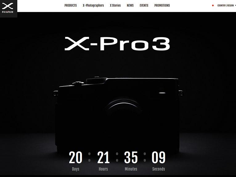 画像: 原稿執筆時、富士フイルムのウエブサイトではX-Pro3のティザー広告を展開中だった。本格的な情報公開が楽しみだ。