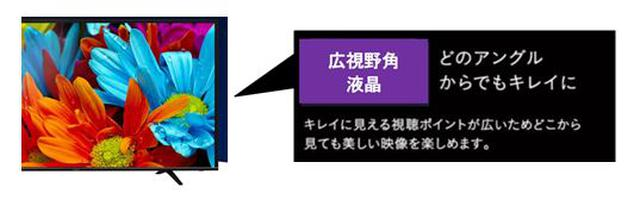 画像: 2. 広視野角液晶でどの角度からでも鮮やかに