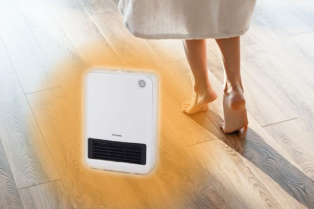 画像: スイッチオンですぐに暖かくなる「セラミックヒーター」