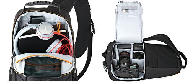 画像: 側面のジッパーを開けて、機材にアクセス。背中側まで全開にすれば、ほかの機材の出し入れも可能に。
