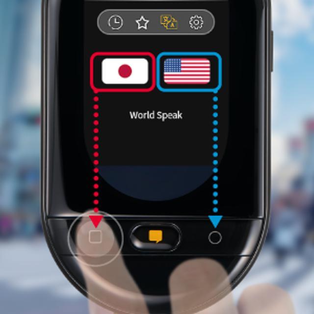 画像: 会話ボタンをワンプッシュして話しかける。
