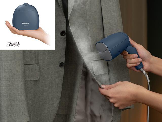 画像2: 旅行先や出張先でもシワ伸ばしが行えるコンパクト衣類スチーマー