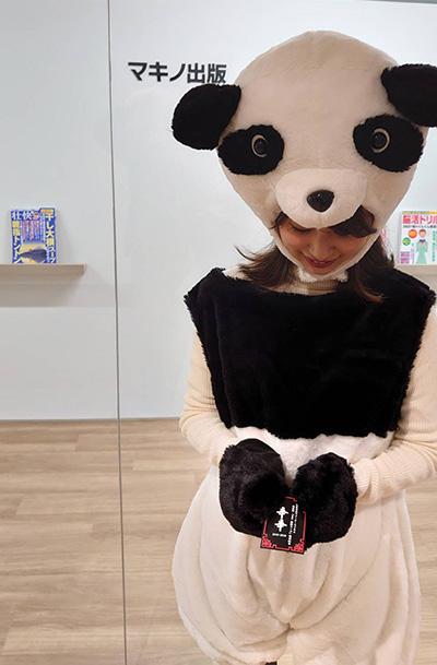 画像: 宣伝担当のこのパンダ、どうやら「辛辛(シンシン)」という名前らしい。