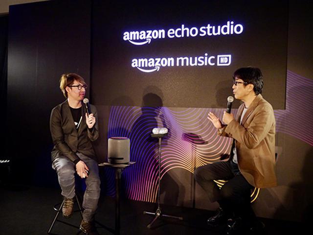 画像: 音楽プロデューサーの松任谷正隆氏とデジタル音楽ジャーナリストのジェイ・コウガミ氏による対談では、音楽配信と音楽制作の関連、Echoシリーズの日常的な使い方などが話題に挙がった。
