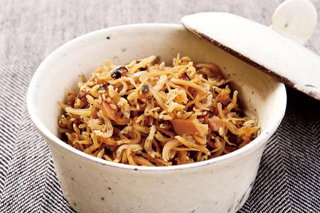 画像: 干しシイタケスープ活用レシピ 干しシイタケとジャコの佃煮