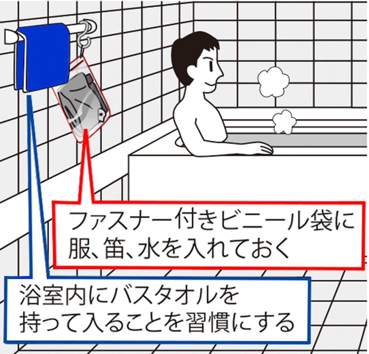 画像: 入浴中の大地震発生にはどのように対処すべき?