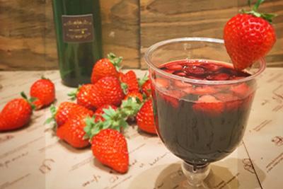 画像: ビストロ・オーガニック蝦夷 「いちごのグリューワイン」 tokyochristmas.net