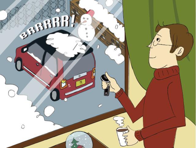 画像: 冬の朝でも乗る前から車内を暖かく!窓の霜取りもラクに。 www.honda.co.jp