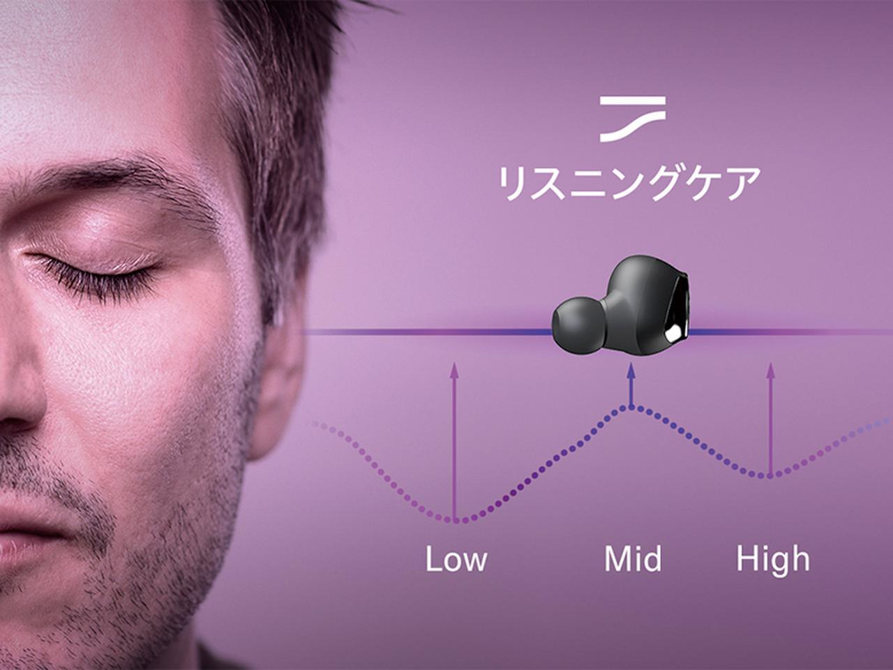 画像: 人間の聴感の特性に合わせ、音量が小さいときに低域と高域の音を最適に持ち上げる。電車や雑踏の中でも過度に音量を上げなくても済む。