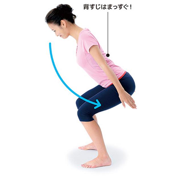 画像3: 1日5分!筋肉と骨を鍛えて若返る 「スクワット」と「かかと落とし」のやり方